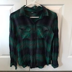 Urban outfitters plaid long sleeve shirt